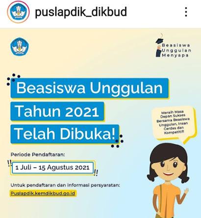 Puslapdik Beasiswa Unggulan 2021