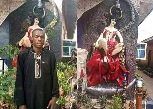 Church Of Satan demolished in Abia, founder arrested