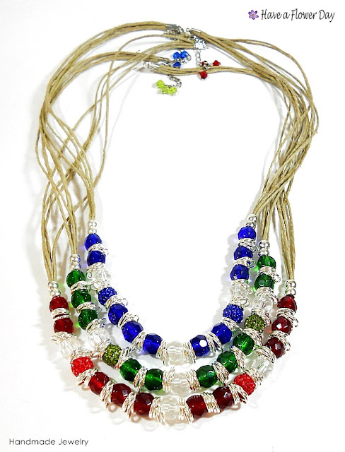 LUAM. Collar con cristal · Crystal necklace