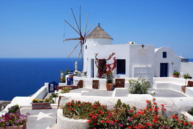 Vacaciones en Santorini, Grecia