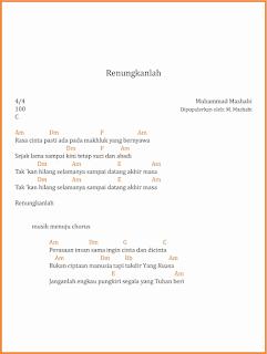 chord renungkanlah lagu dangdut m mashabi