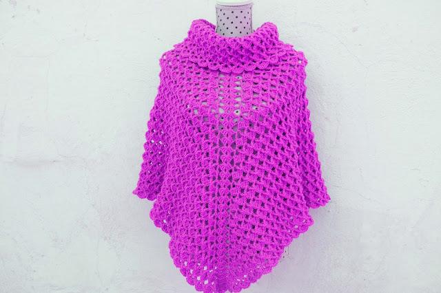 2-Imagen Crochet Poncho cuello de tortuga adulto a crochet y ganchillo y Majovle Crochet