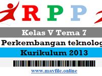 RPP Kelas 5 Tema 7 (Peristiwa dalam Kehidupan)