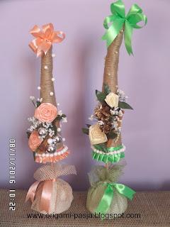 ręcznie zrobiona choinka, z juty, ze sznurka, ozdoba, prezent na święta