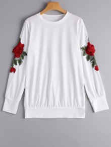 slika prikazuje zaful bijelu romantičnu majicu sa cvjetovima