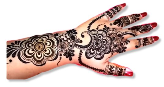 Wrist Wedding Mehandi Designs