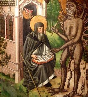 En el Museo de la Catedral veo una pintura  impresionante en la que un demonio tienta  a un personaje religioso. Si el cuadro lo  hubieran pintado hoy, seguro que en  lugar de ver al diablo veríamos a un  banquero tentando a un Presidente.