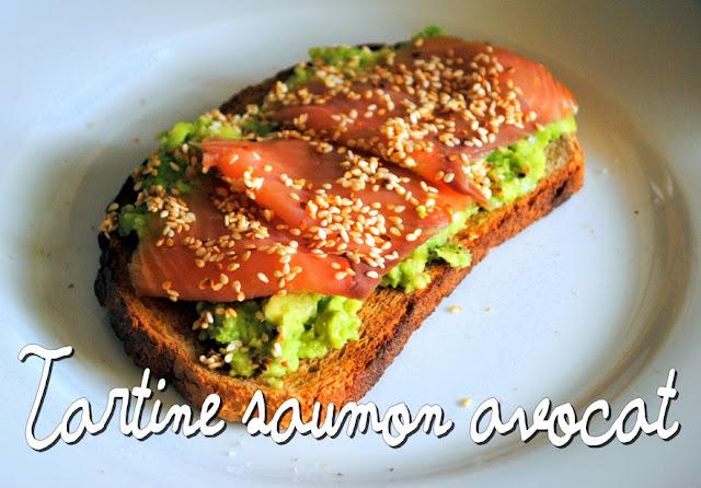 tartine avocat saumon recette