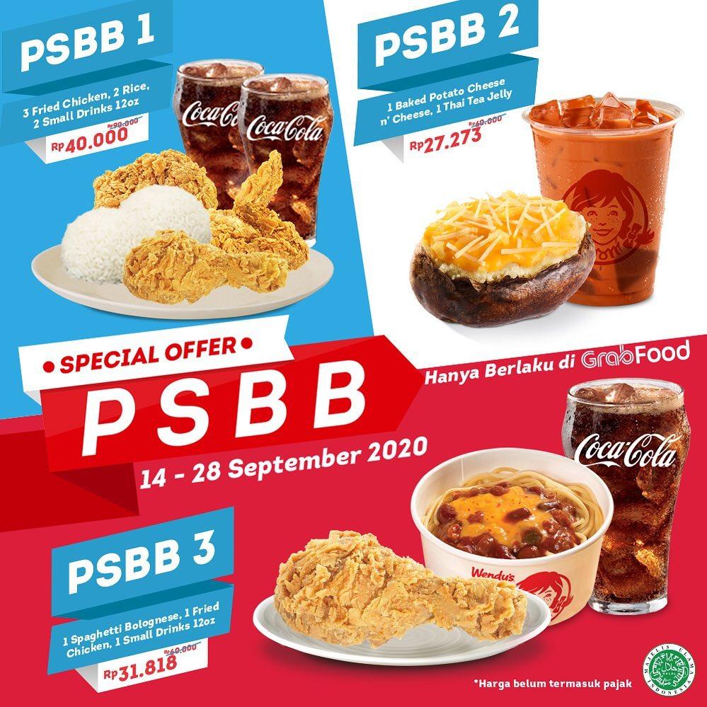Promo WENDYS PSBB Periode 14 - 28 September 2020