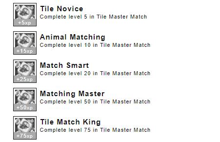 Achievements Tile Master Match