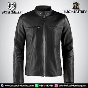 Jual Jaket Kulit Asli Garut Pria Domba Original Brida Leather B32   WA 08813430588