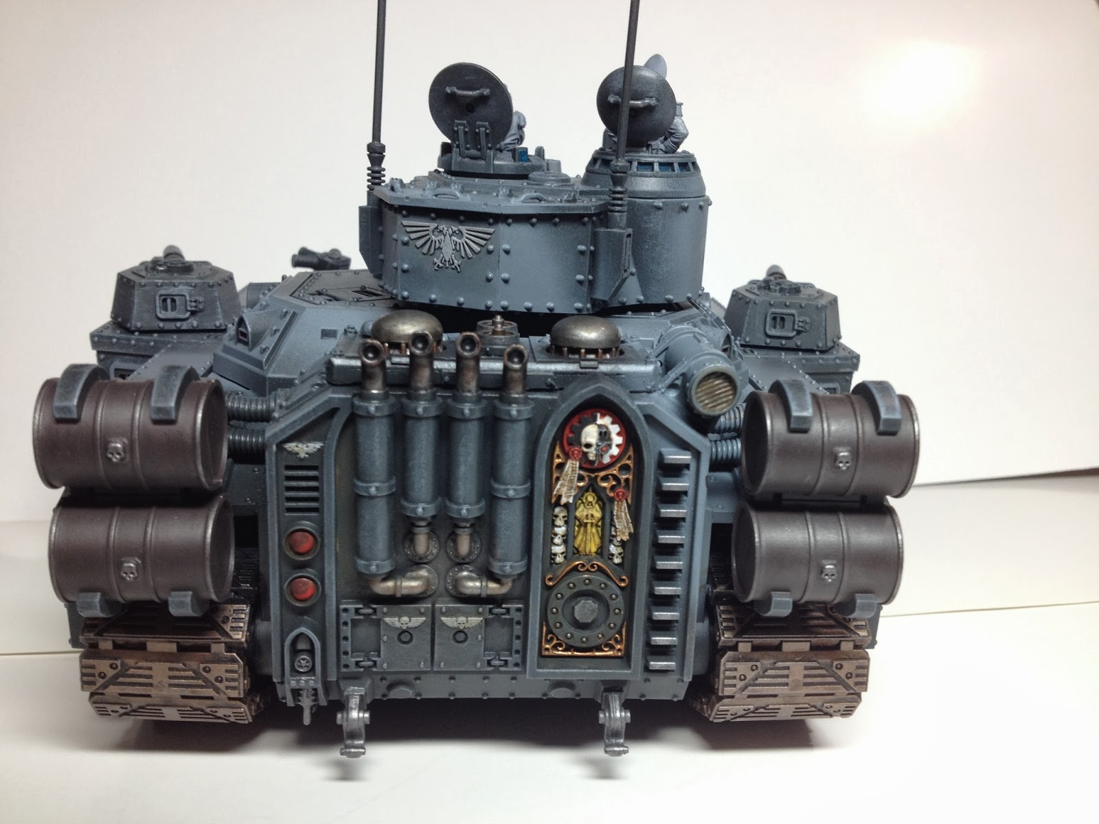 Death Korps of Krieg Baneblade WIP Rear