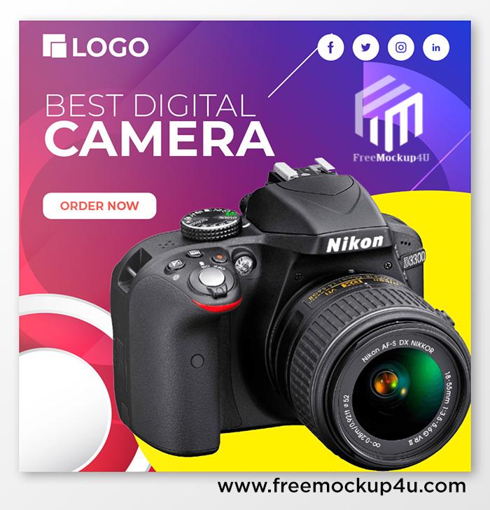 Camera Sale Promotion Social Media Post Design
