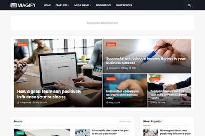 Magify Premium Responsive Blogger Template