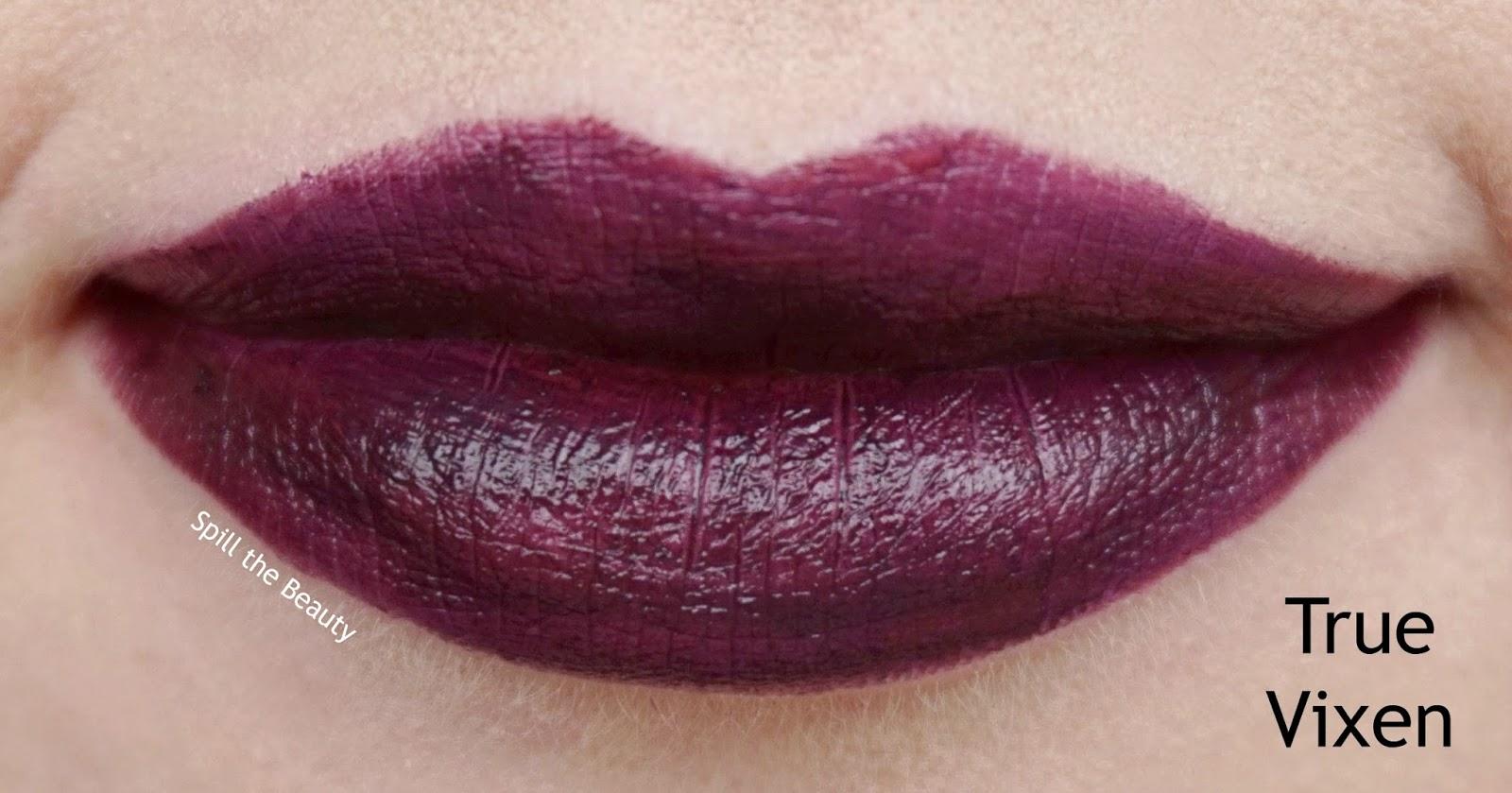 nyx pin up pout lipstick review swatches true vixen