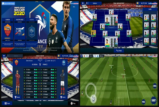 New Soundtrack And there are many other cool features Download Dream League France DLS 20 Mod Timnas Perancis by Azis Perfect