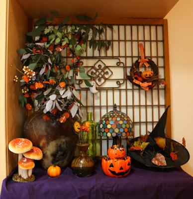ハロウィン玄関飾り