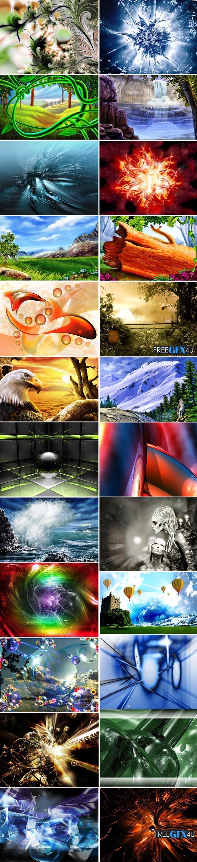Widescreen Wallpapers 3D Art Best collection