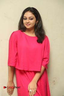 Actress Arundathi Nair Stills in Red Chididar at Bethaludu Success Meet  0071.JPG