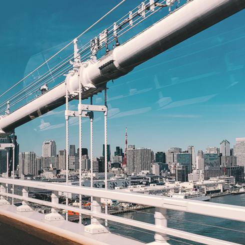 Crossing Rainbow Bridge Tokyo