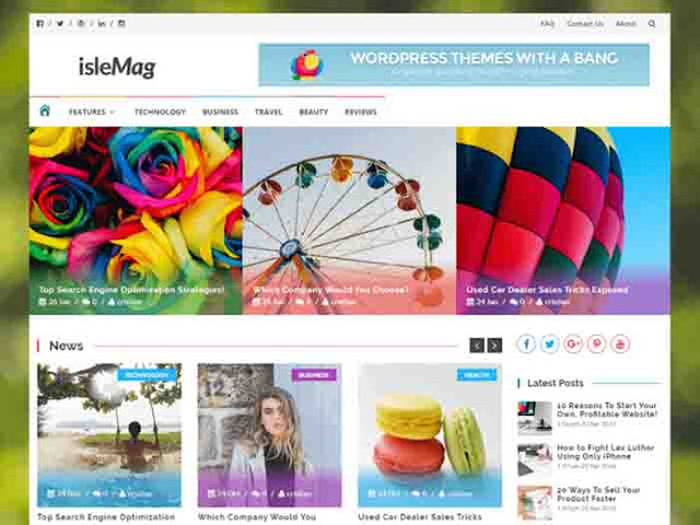 ISLEMAG WordPress Template Free Download