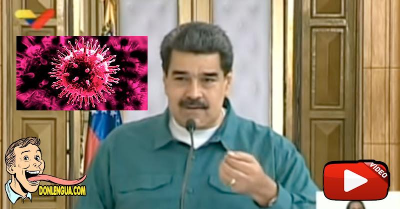El Dictador Maduro dice que Caracas está repleta de casos del virus