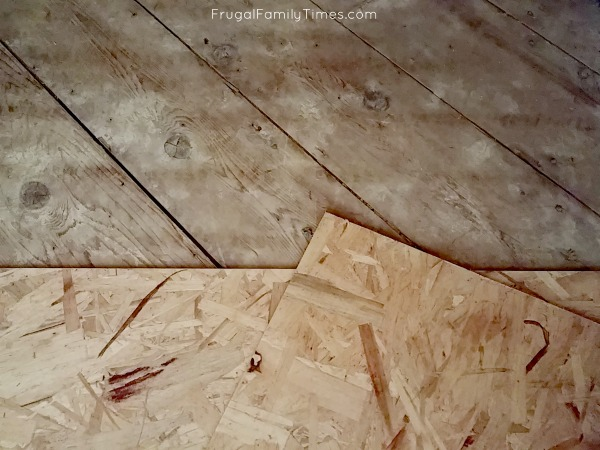 leveling subfloor for luxury vinyl plank
