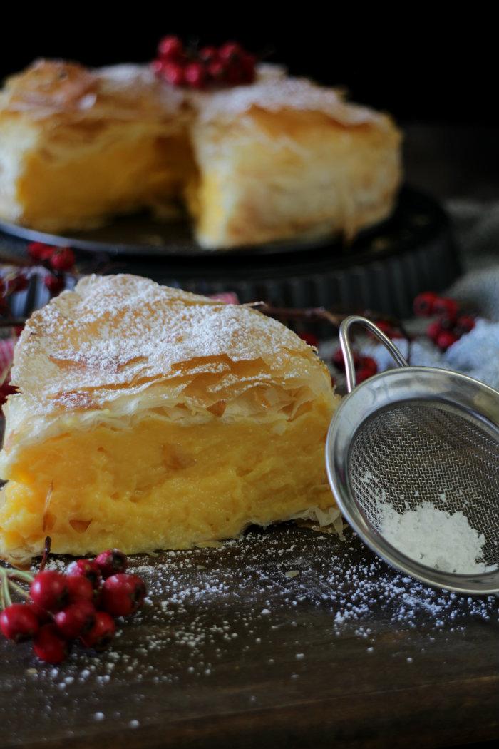 Galaktoboureko, pastel-griego, greek-custard-pie, pie