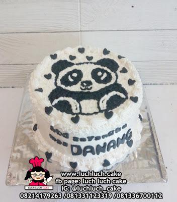 Kue Tart Buttercream Panda