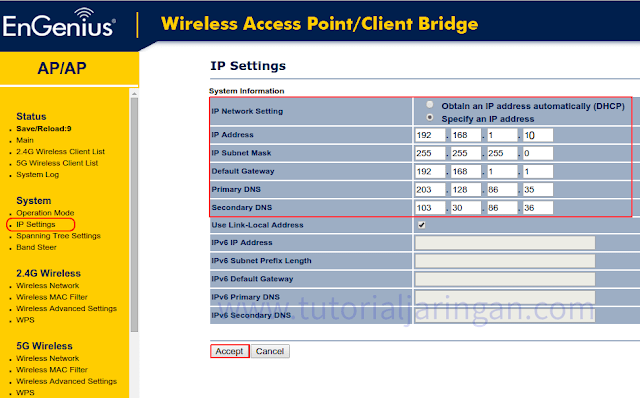 Tutorial Cara Setting Access Point EnGenius EAP600