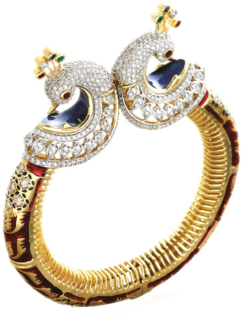 Entice Jewelry Akshaya Tritaya Collection Peacock Bangle