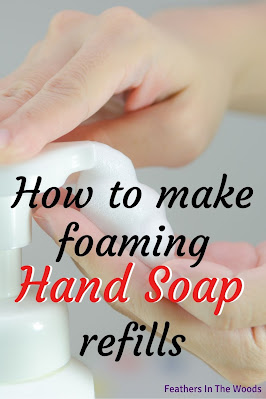 Foaming soap being pumped onto a hand