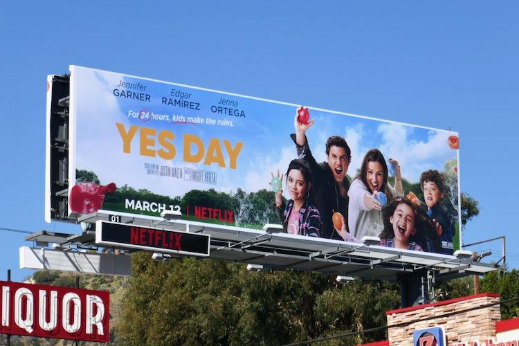 Yes Day film billboard