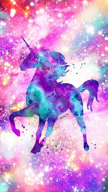 Unicorn Galaxy iphone colorful wallpaper