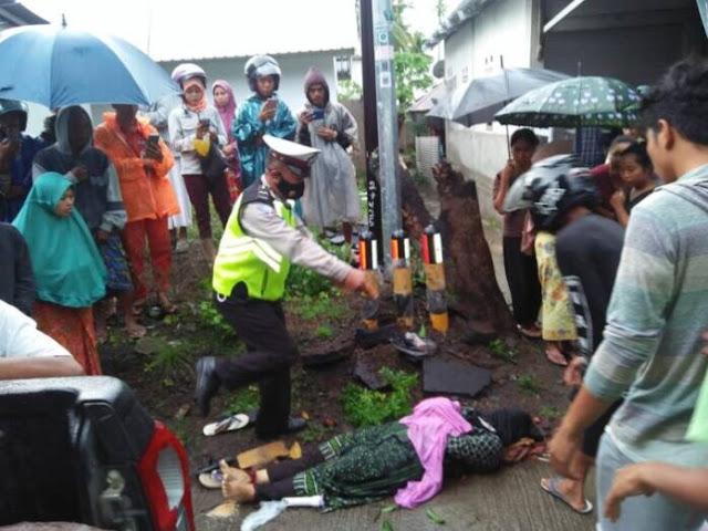 Mobil Pick Up Tabrak Pohon Mangga di KLU