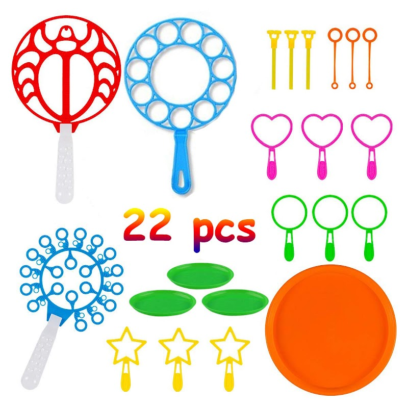 AMAZON - 50% off 22 Pack of Colorful Bubble Wands Toys