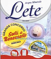 Logo ''Concorso Sorsi di Benessere'': con Acqua Lete vinci 30 weekend a Ischia