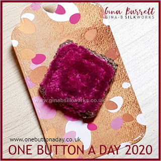 One Button a Day 2020 by Gina Barrett - Day 133 : Plush