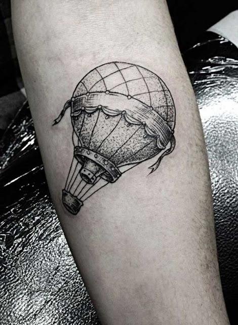 tatuagens de balões para as meninas
