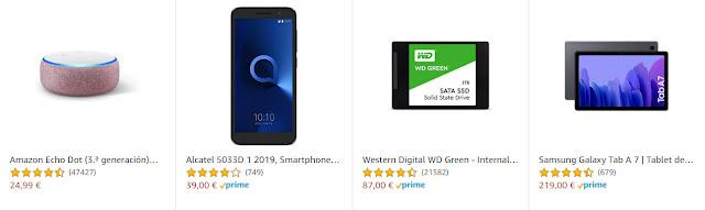 Ofertas en Amazon 17-12-20 en 13 artículos electrónicos