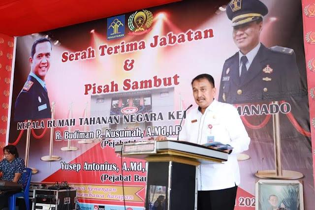 Sekda Lakat Hadiri Sertijab Kepala Rutan Kelas IIA Manado
