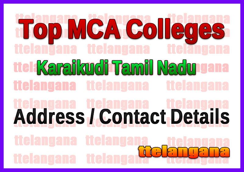 Top MCA Colleges in Karaikudi Tamil Nadu