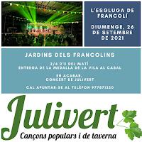 26 de SETEMBRE: JULIVERT A L'ESPLUGA DE FRANCOLÍ