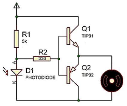 Implementasi Sensor Photodioda dengan Motor DC