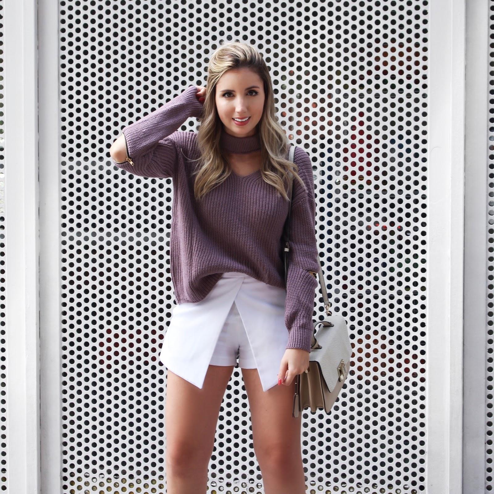 tricô lilás Sweater lilás