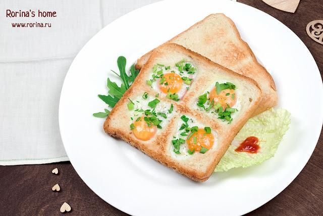 «Счастливый клевер» — креативная яичница из перепелиных яиц