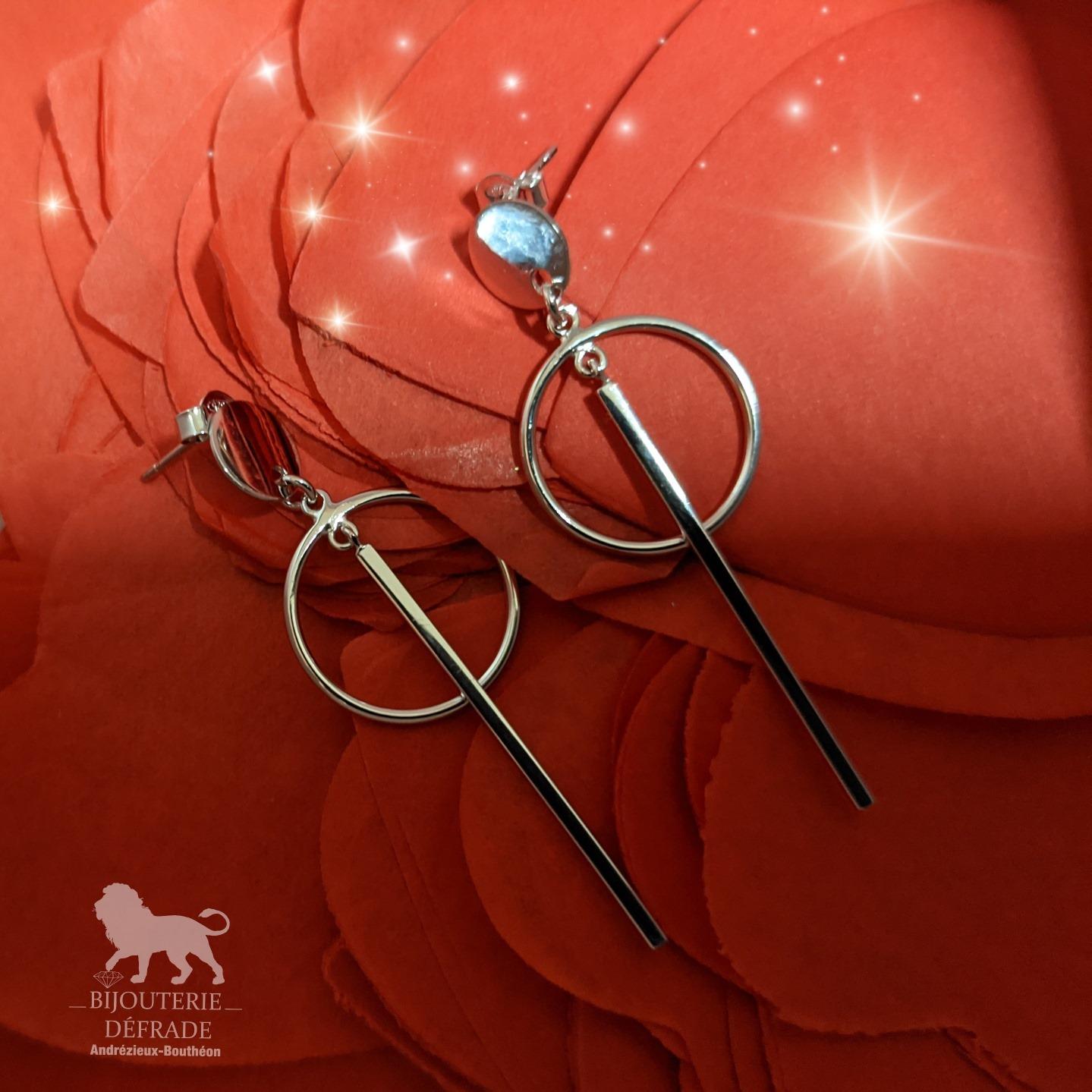 boucles d'oreilles en argent bijouterie defrade