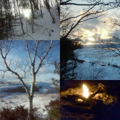 Winter hiking collage by Jenn of Sparkly Poetic Weirdo | Guest post on www.BakingInATornado.com