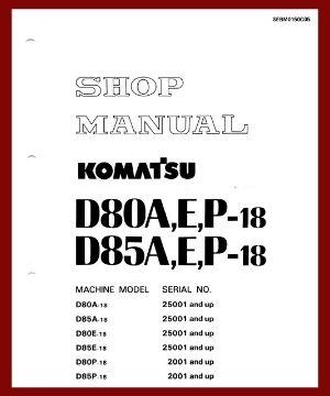 Shop Manual d80a-18 d85a-18 d80p-18 d85p-18 d80e-18 d85e-18